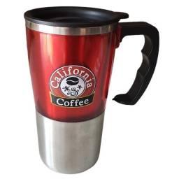 Título do anúncio: Caneca California Coffee Térmica Alumínio Vermelha