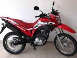 Título do anúncio: Moto Nxr 160 Bross vermelha no boleto