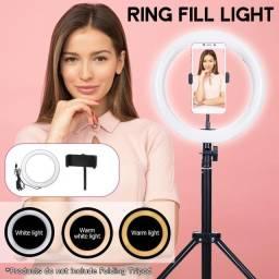 Título do anúncio: Ring Light de Mesa 16cm Usb Led Tripé