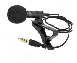 Mini Microfone para celular Condensador Portátil De Lapela Com Fio De 3,5 mm