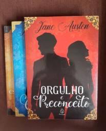 Livros seminovos de Jane Austen. Orgulho e Preconceito, Emma e Persuasão.