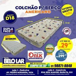 Título do anúncio: Colchão Para Berço Americano 70x150, Compre no zap *