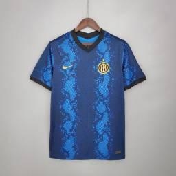 Camisa Inter de Milão I 21/22 s/n° Torcedor Nike Masculina<br><br>