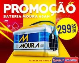 Promoção em bateria Moura 300$ baterax 200$
