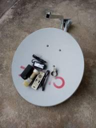 Anterna + aparelho sky livre +controle +  LNB
