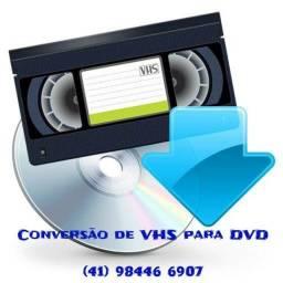 Título do anúncio: Conversão de fitas de video cassete para dvd ou mp4.