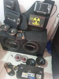 Título do anúncio: Vendo caixa de Grave com 2 Power vox 600 Rms