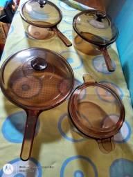 Panelas de vidro