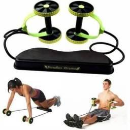 Elástico Roda Exercício Abdominal Revoflex Rolo Com Roda