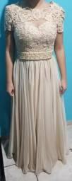 Vestido longo de alta costura (casamento, festas)