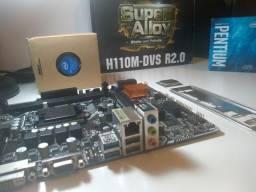 KIT Placa Mãe Asrock H110M + Pentoum G4560 3.5Ghz