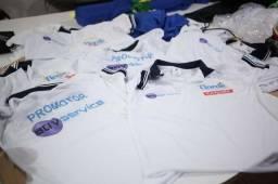 Camisas Polo diversas cores com sublimação, serigrafia e bordado