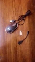 Mouse seme novo , pen drive 16 Gb e um cabo Otg