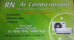Instalação Manutenção Limpeza de ar condicionado