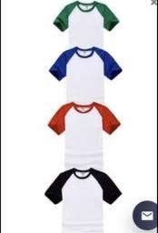 Kit 30 camisetas raglan para sublimação