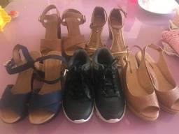 Sapatos número 35 conservados