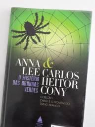 Livro O mistério das Aranhas verdes / Autores Anna Lee e Carlos Cony
