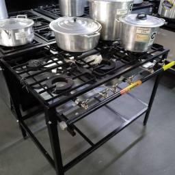 Fogão 6 bocas com saída para forno Venâncio