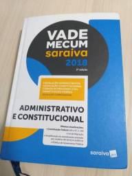 Vade Mecum Saraiva 2018 2° edição Administrativo e Constiitucional
