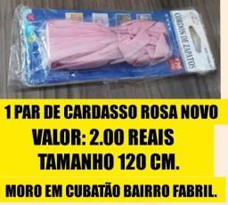 1 par de cardasso novo rosa_ 2.00 reais o par/ chama no Whatsapp