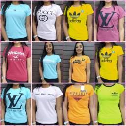Camiseta - Diversas estampas e marcas - Atacado e varejo - Fazemos entrega