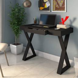 Mesa Home Office Minimalista Veneza - Cor: Preto (NOVA)