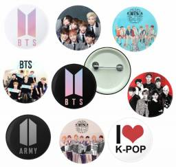 10 Bottons Kpop Bts Bangtan Boys Button Boton K-pop