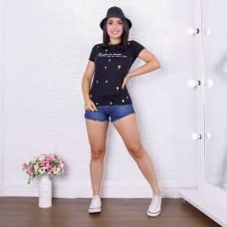 Título do anúncio: Blusinha T-shirt 100% algodão