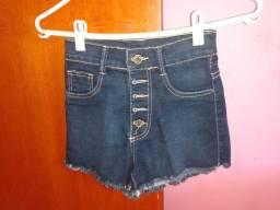 Short jeans cintura alta 34