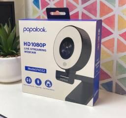 Título do anúncio: Webcam Papalook PA552 Com Iluminação Para Live Streaming