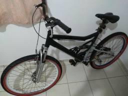Título do anúncio: Entrego . Bicicleta aro aero 26 quadro de aluminio full suspension