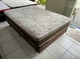 cama box CASAL ECONOMIA em uma cama SEMI nova