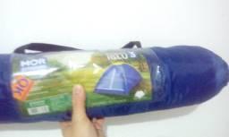 Troco barraca iglu máster colchão king inflável e bomba novos