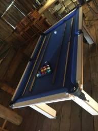 Título do anúncio: Mesa Tentação Tecido Azul Frete Grátis Mod. 742EG5IF