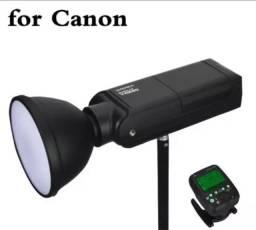 Flash YN 200 com rádio Canon