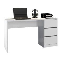 Mesa Escritório Escrivaninha com 3 Gavetas - Só R$299,00