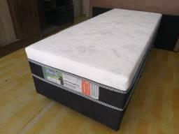 Oferta**Cama Box Solteiro,10 Cm De Espuma, Novo