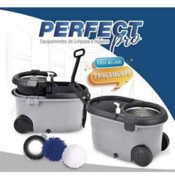 Balde Mop de limpeza, Mop Spray e Refil Esfregão