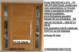 Combo porta externa 100 x 210 com portal 140 x 210 - NOVA - 10x no cartão