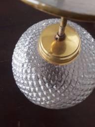 Lustre cristal redondo para sala