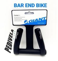 Título do anúncio: Bar End GIANT Alum. Contact 3D Bike MTB Bicicleta Preto Leve (ORIGIAL GIANT)