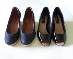 02 Pares de sapatos conforto.