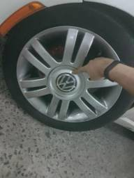 Rodas aro 16 de polo pneus meia vida