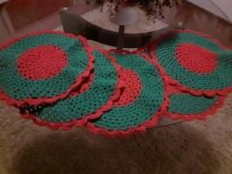Sousplat de crochê feitos a mão