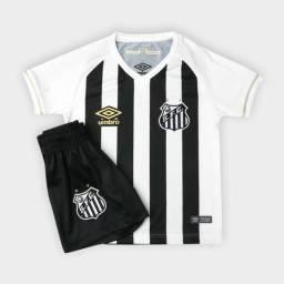 Kit Camisa II e Calção - Santos - 2018 - s nº - Torcedor - 2af12a822e264