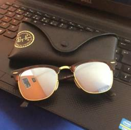 Oculos Rayban Clubmaster Flash Sunglasses 114530 Silver