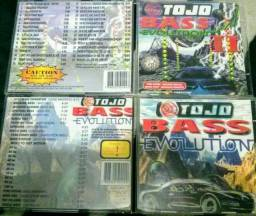 CD's Tojo Bass Evolution 2 volumes SPL teste som automotivo