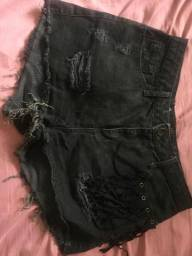 Short jeans preto tamanho 44
