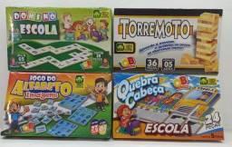4 Jogos Educativos Torremoto Quebra Cabeça Alfabeto E Dominó Jogo da memória