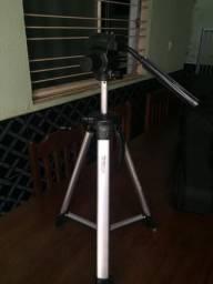 Tripé em alumínio para câmara fotográfica